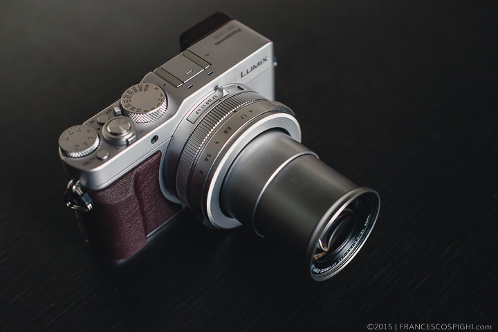 Panasonic Lumix LX100 with lens barrel at full extension
