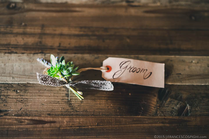 Rustic Flower Groom Boutonniere