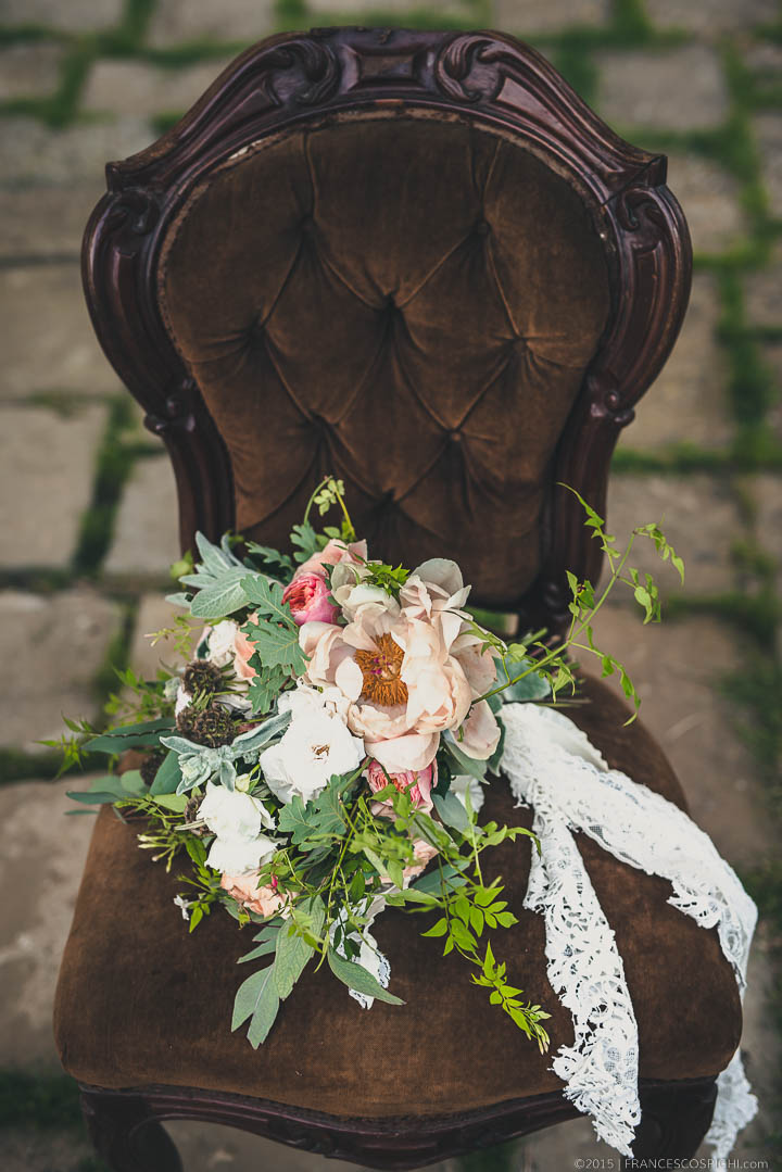 Boho Chic bouquet with spring rustic flowers