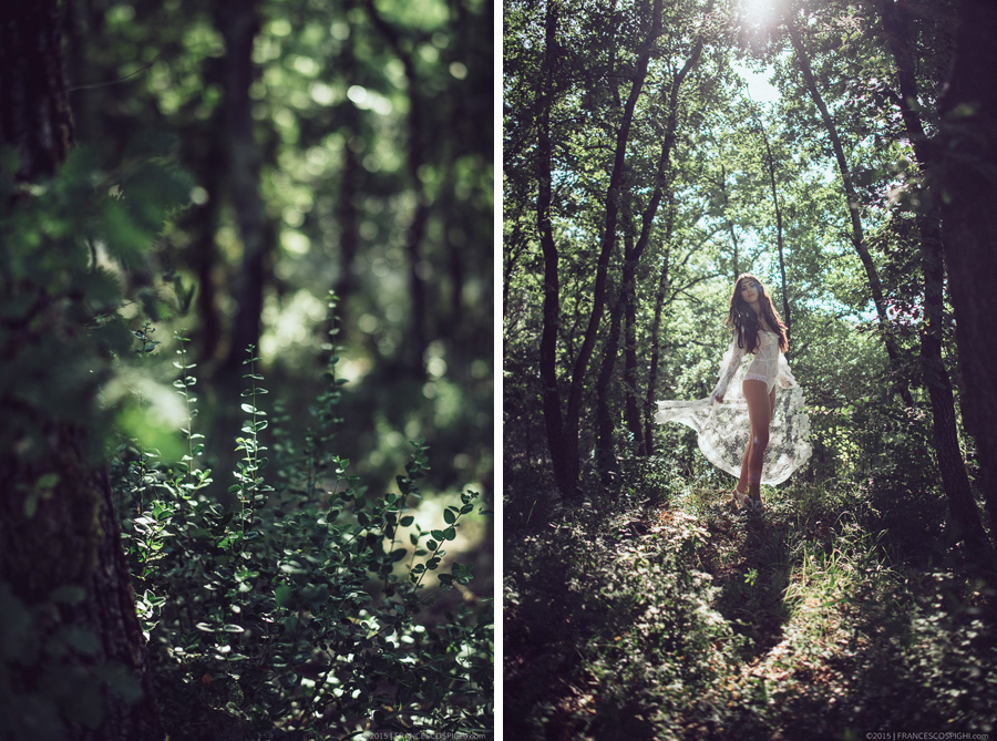 bohoemian boudoir styled photo shooting wood outdoors 1001
