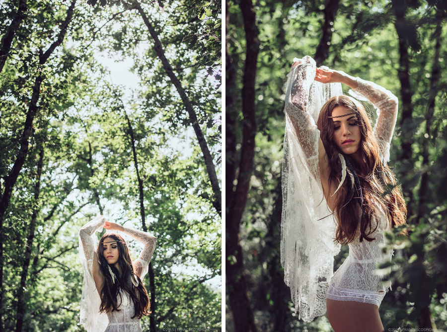 bohoemian boudoir styled photo shooting wood outdoors 1007