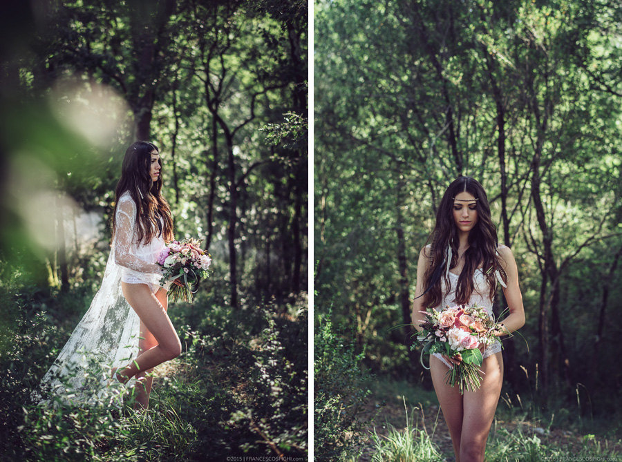 bohoemian boudoir styled photo shooting wood outdoors 1022