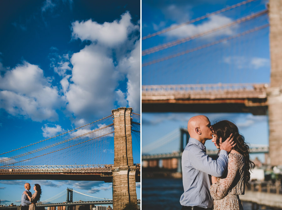 Engagement Photographer New York Brooklyn Bridge