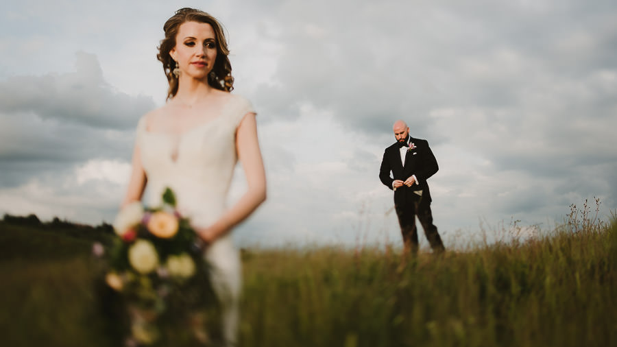 ment in Tuscany / bridal couple creative portrait