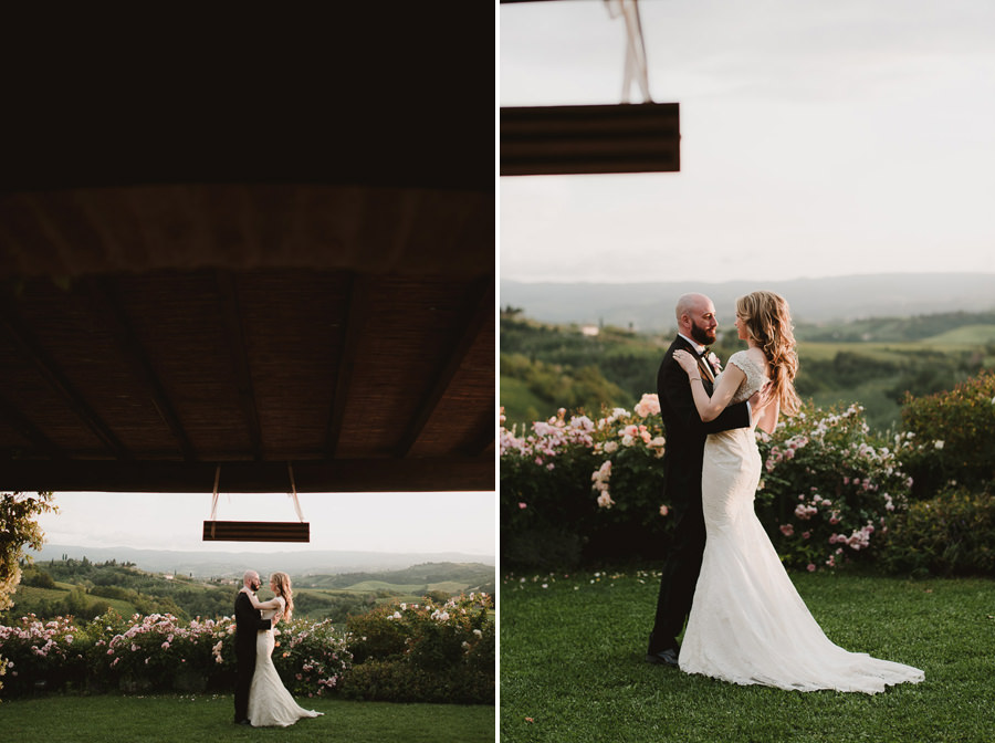 Romantic Italian elopement in Tuscany Photo / First Dance