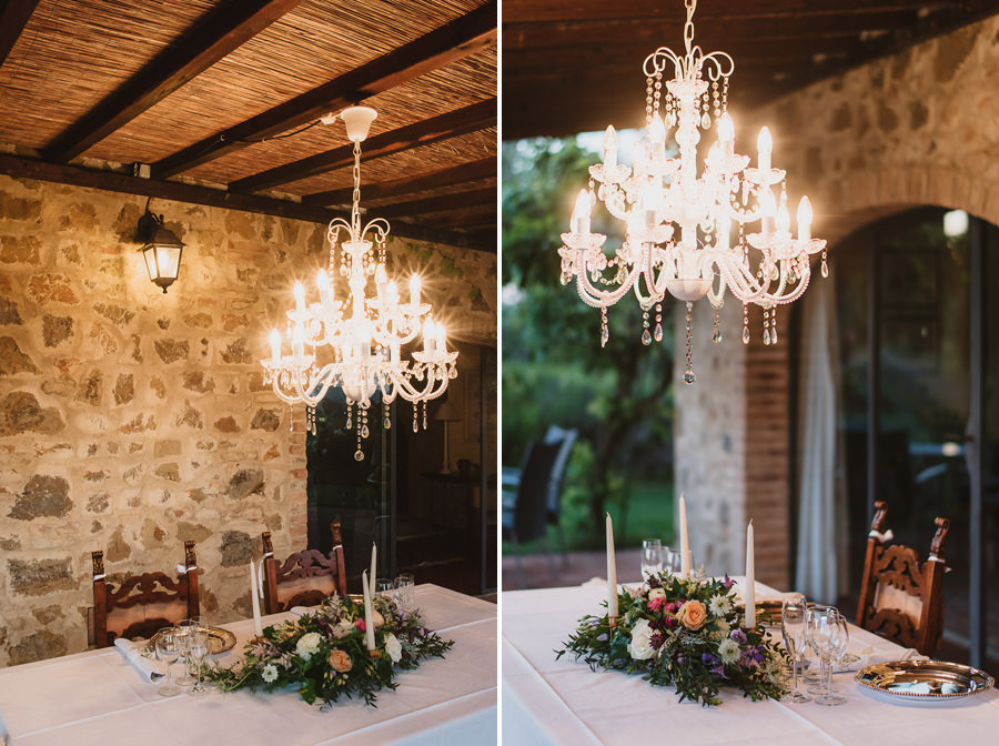 Romantic Italian elopement in Tuscany Photo / Table & Decor