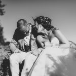 tuscan country chic wedding photography open field ceremony 1078