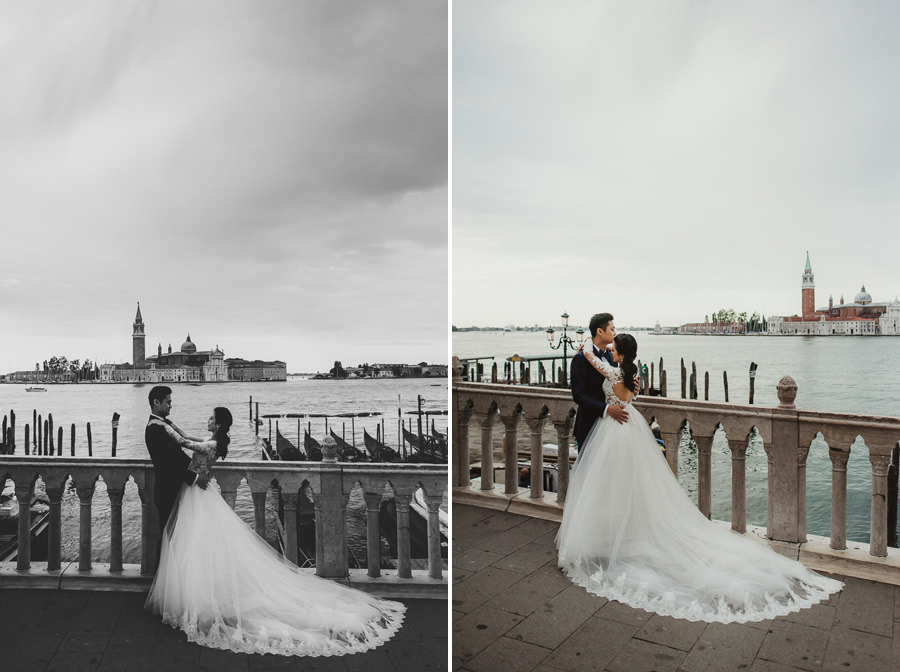 venice wedding photographer / sunrise pre wedding / bridal couple