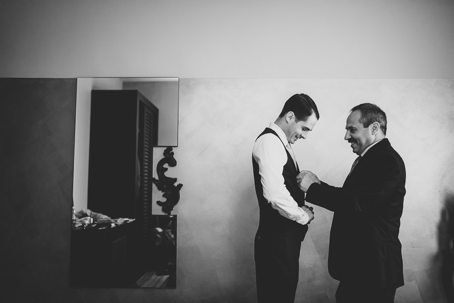 Groom Getting Ready Borghese Palace Art Hotel Florence