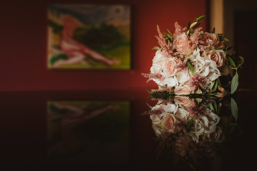 Beautiful Wedding Bouquet with painting