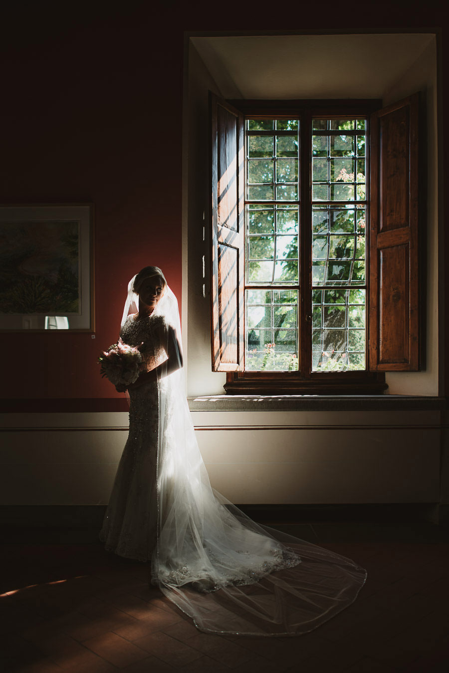 Bride Getting Ready at Castello di Gabbiano, Tuscany