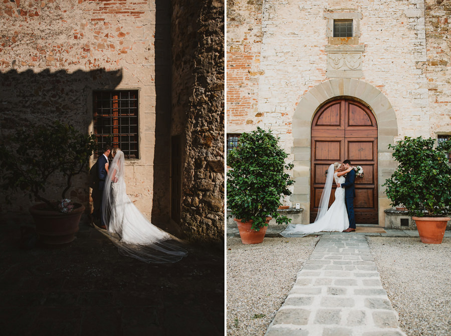groom + bride portrait photography | Castello di Gabbiano, Tusca