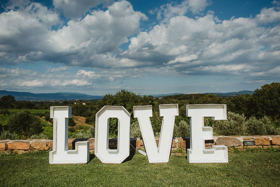 italian style outdoor wedding ceremony, love love love