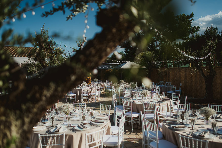 italian style outdoor wedding ceremony, flower decors and detail