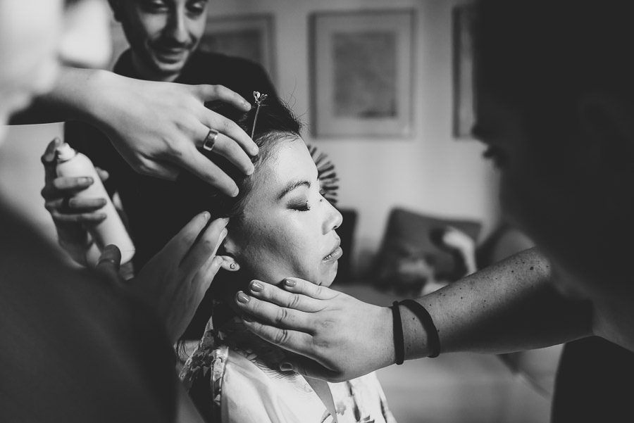 destination wedding in italy bride getting ready photography