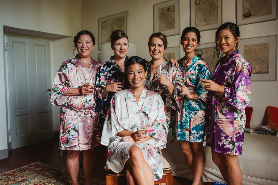 destination wedding in italy bridal party photography
