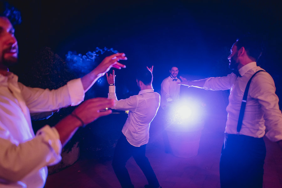destination wedding in italy wedding dance guests have fun