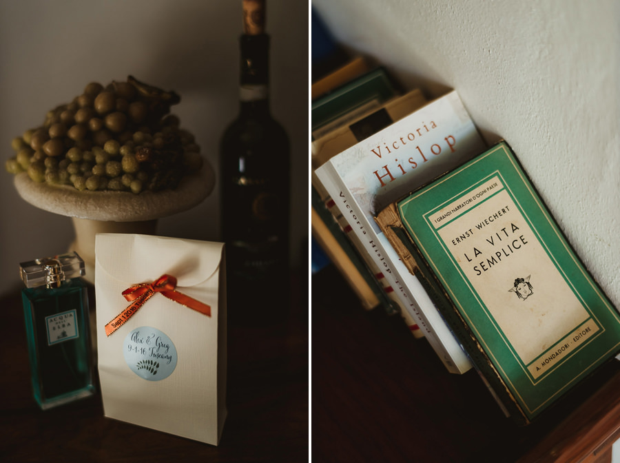 tuscany intimate wedding detail