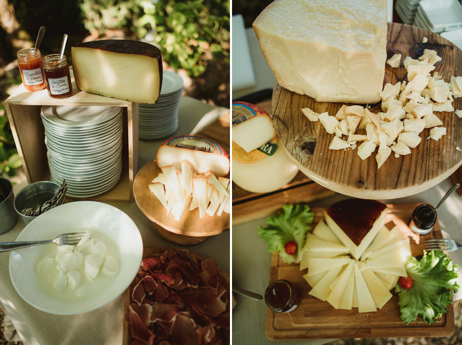 get married in Italy typical tuscan food on aperitif