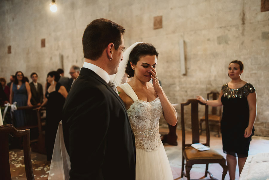tuscany intimate wedding catholic wedding ceremony