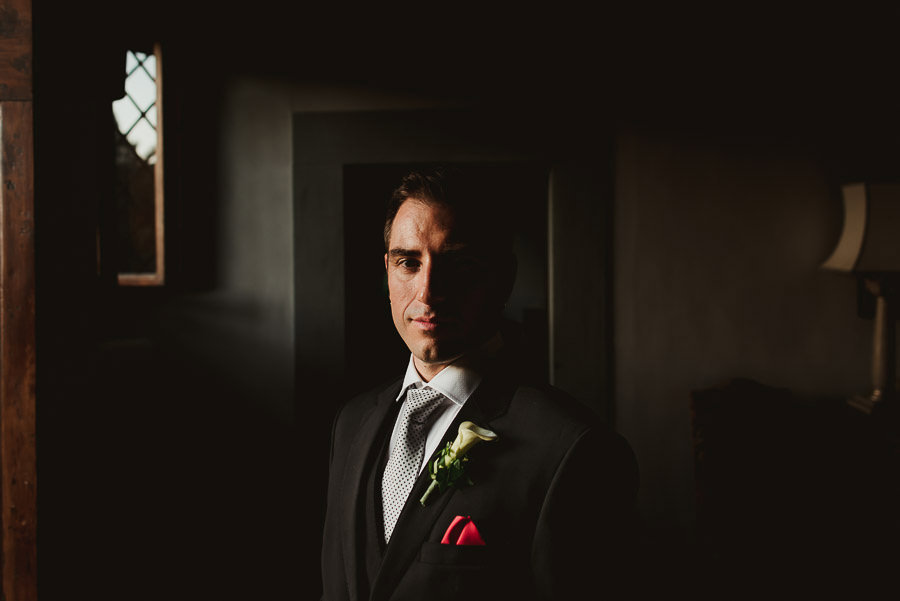 tuscany intimate wedding groom fashion portrait