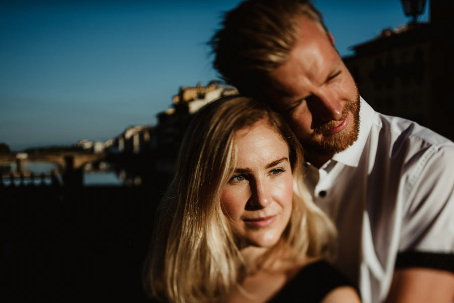 engagement photography in FLorence artistic modern couple portra