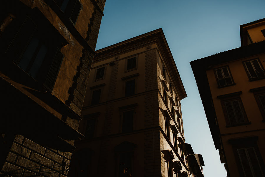 sunset engagement photography in FLorence