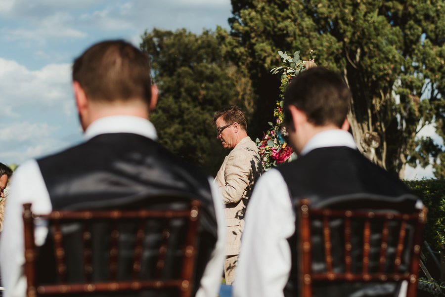 Borgo Sotmennano Wedding Photographer outdoor wedding ceremony