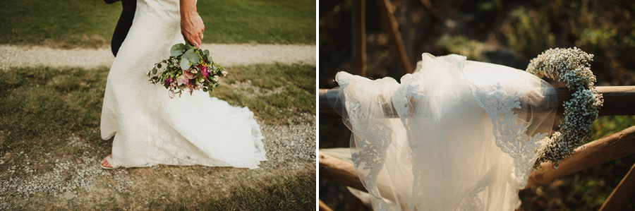 Borgo Sotmennano Wedding Photographer bridal flower bouquet crow