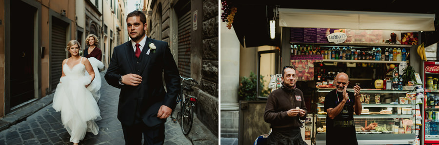 tuscan seaside wedding photographer bride groom walking florence
