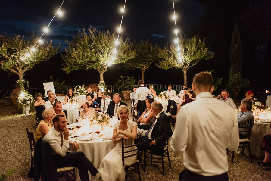 Villa Petrolo wedding in Tuscany outdoor dinner guest