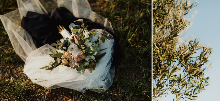 Villa Petrolo wedding in Tuscany rustic chic bouquet