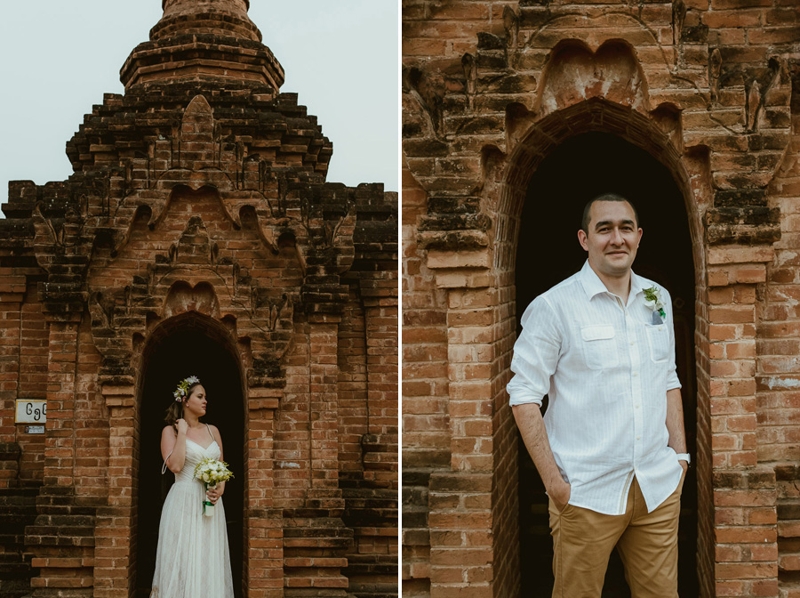 Myanmar elopement photographer Bagan Burma romantic portrait wit