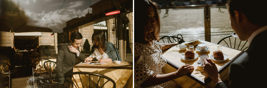Pre Wedding Photography Italy Florence breakfast candid photos