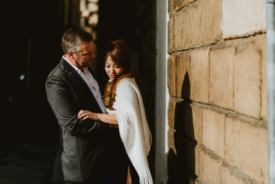 Couple portrait photography florence tuscany italy Ponte smiling