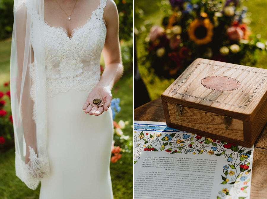 intimate wedding in Tuscan Villa outdoor symbolic ceremony