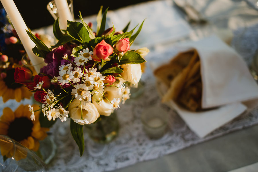 intimate wedding in Tuscan Villa rustic table setup