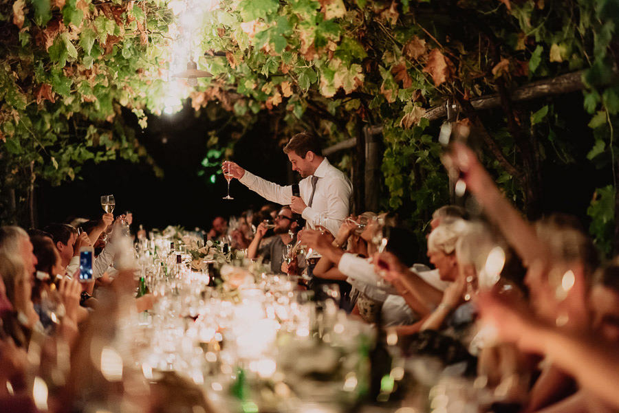 fairytale wedding italy umbria borgo della marmotta outdoor dinn