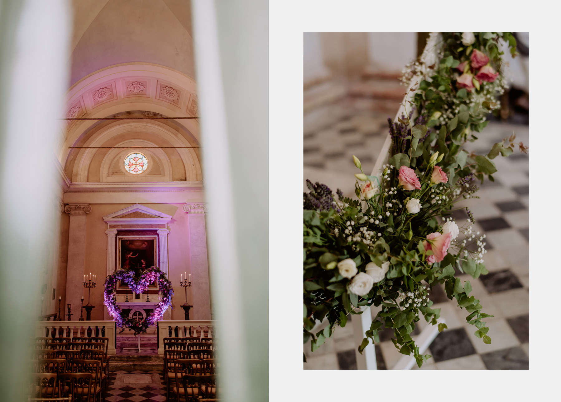 creative wedding photographer tuscany villa michaela chapel