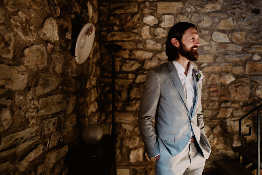 Exclusive wedding photographer tuscany italy groom attire