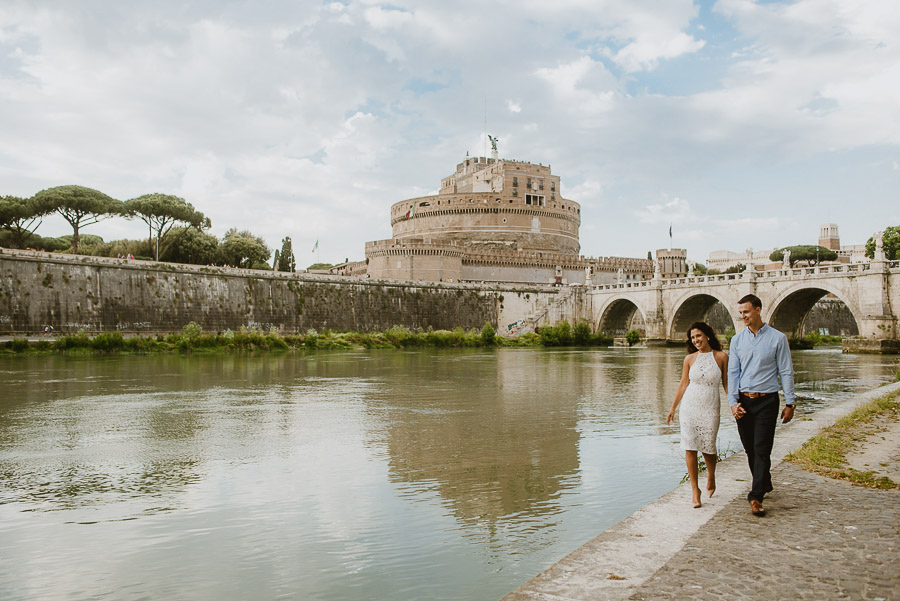 wedding photographer rome engagement session castel santangelo
