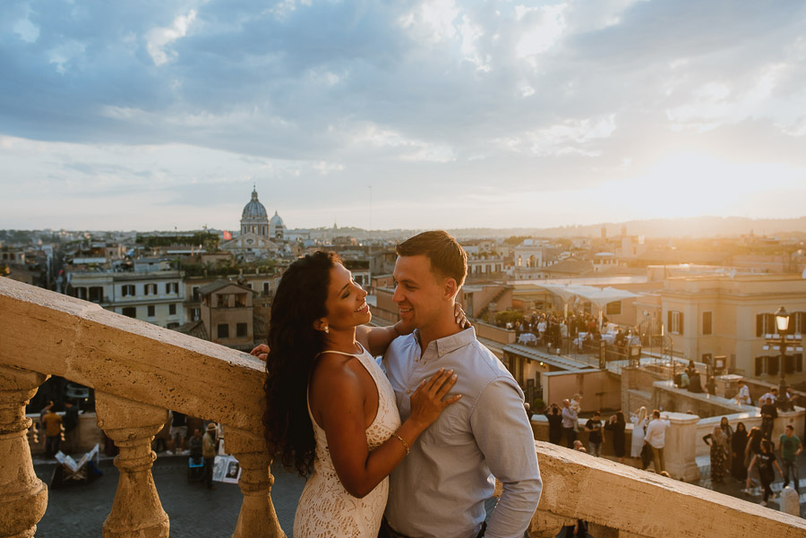 wedding photographer rome romantic couple session san pietro