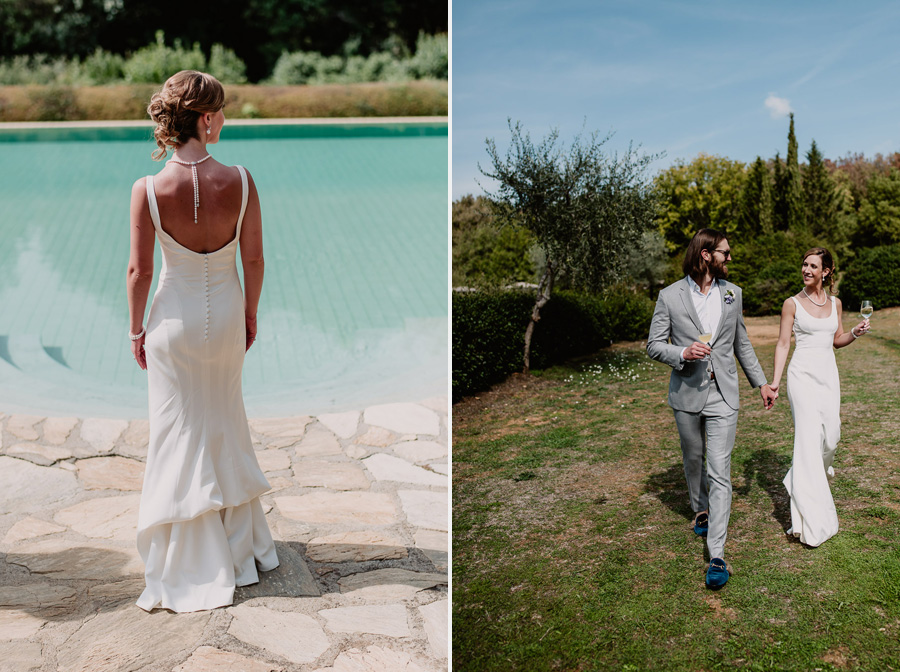 Exclusive wedding photographer tuscany modern bridal couple phot
