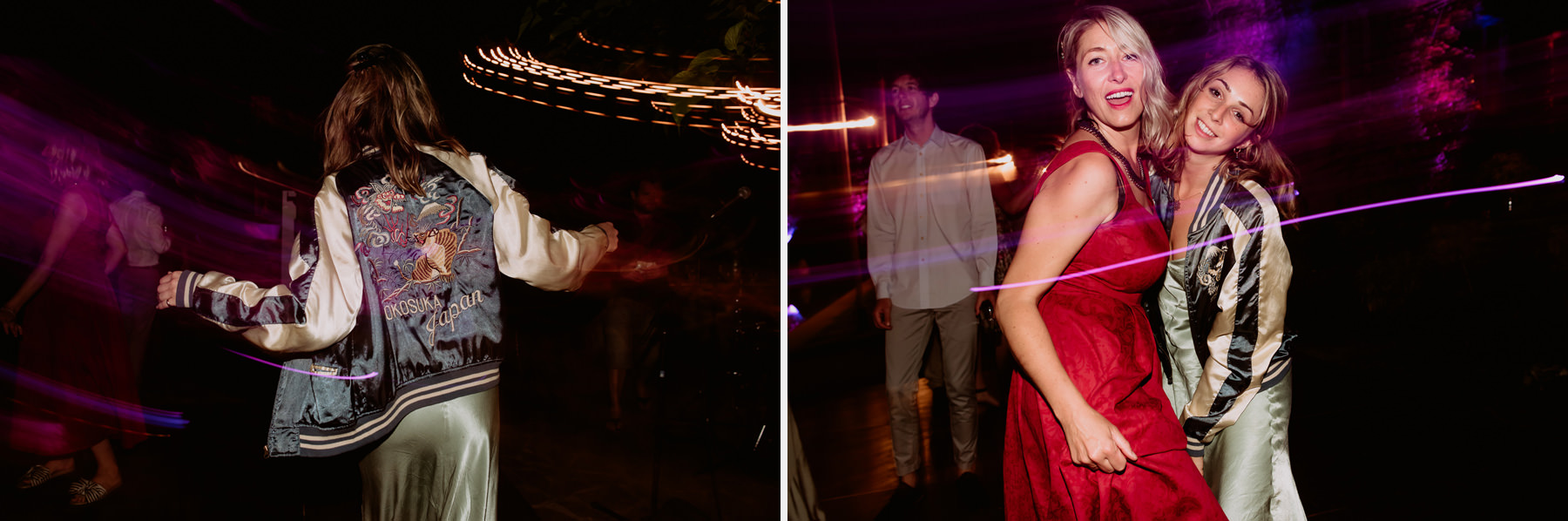creative wedding photographer tuscany dance floor dj vynil scrat