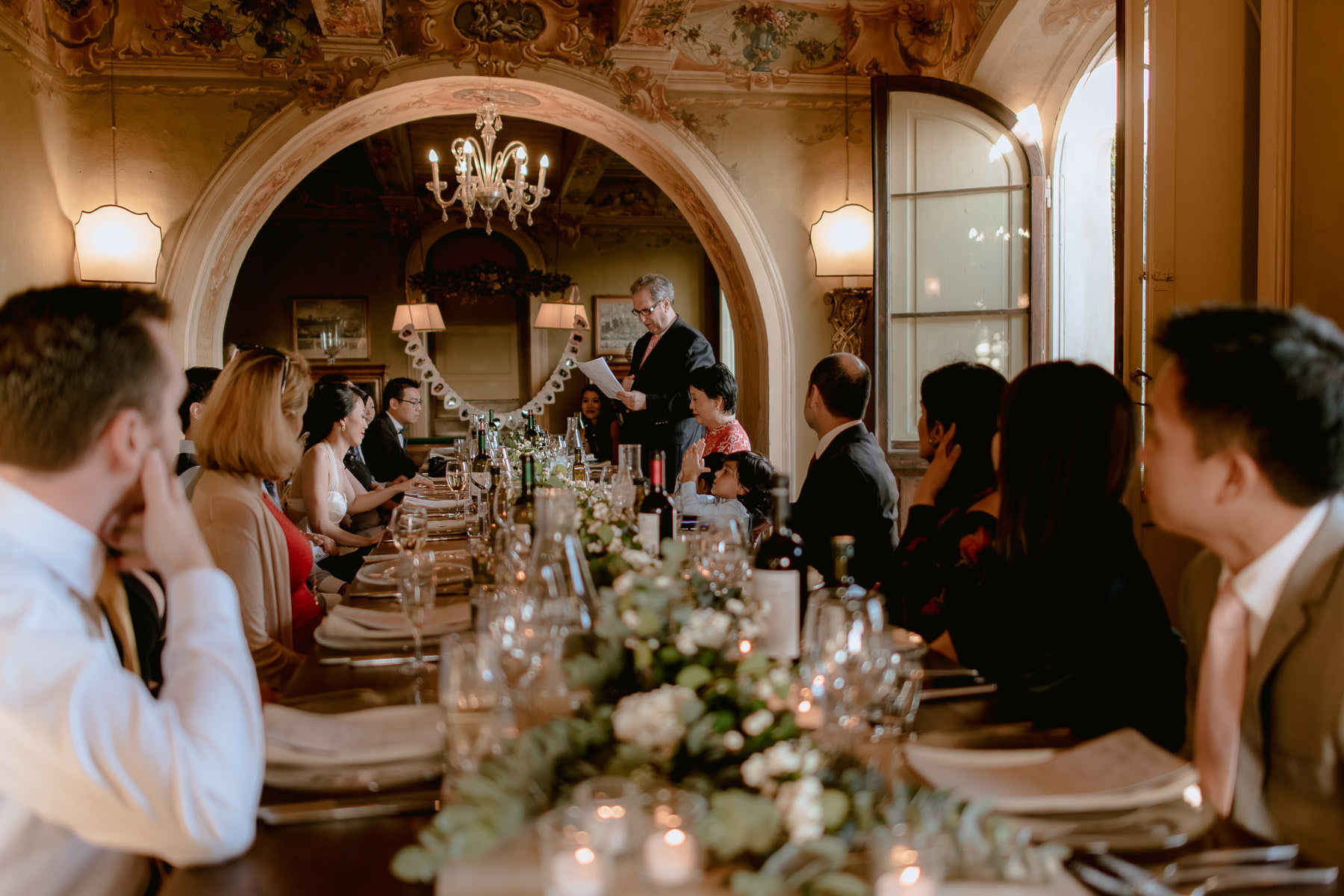 intimate wedding in Tuscany Italy Borgo Stomennano intimate dinn