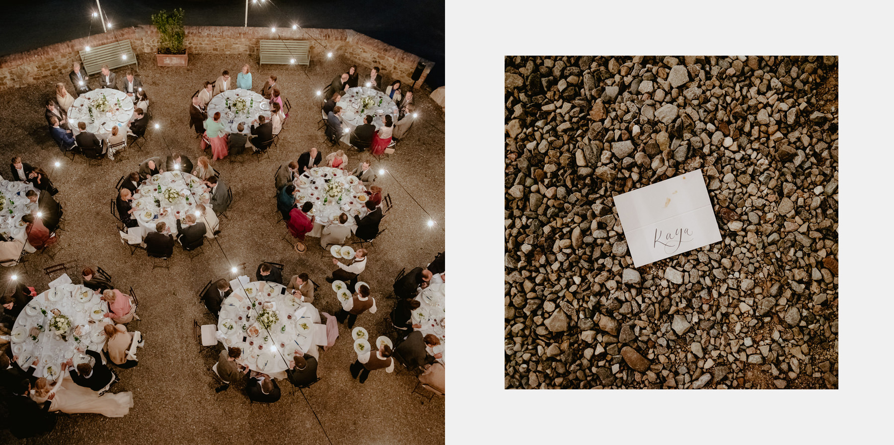 Siena wedding photographer borgo scopeto outdoor dinner speeches