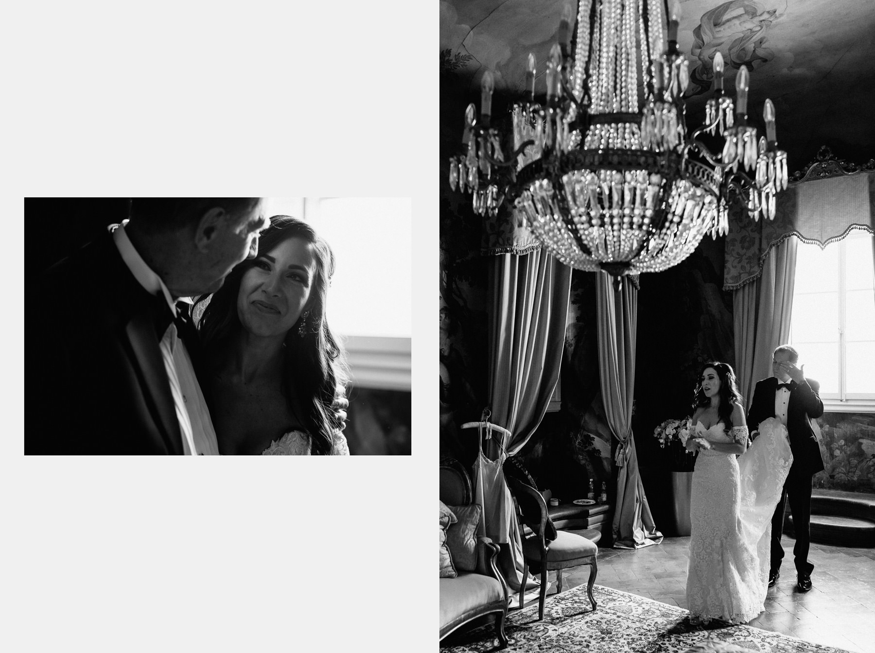 Timeless wedding in Florence piazza pitti palace bride father cr