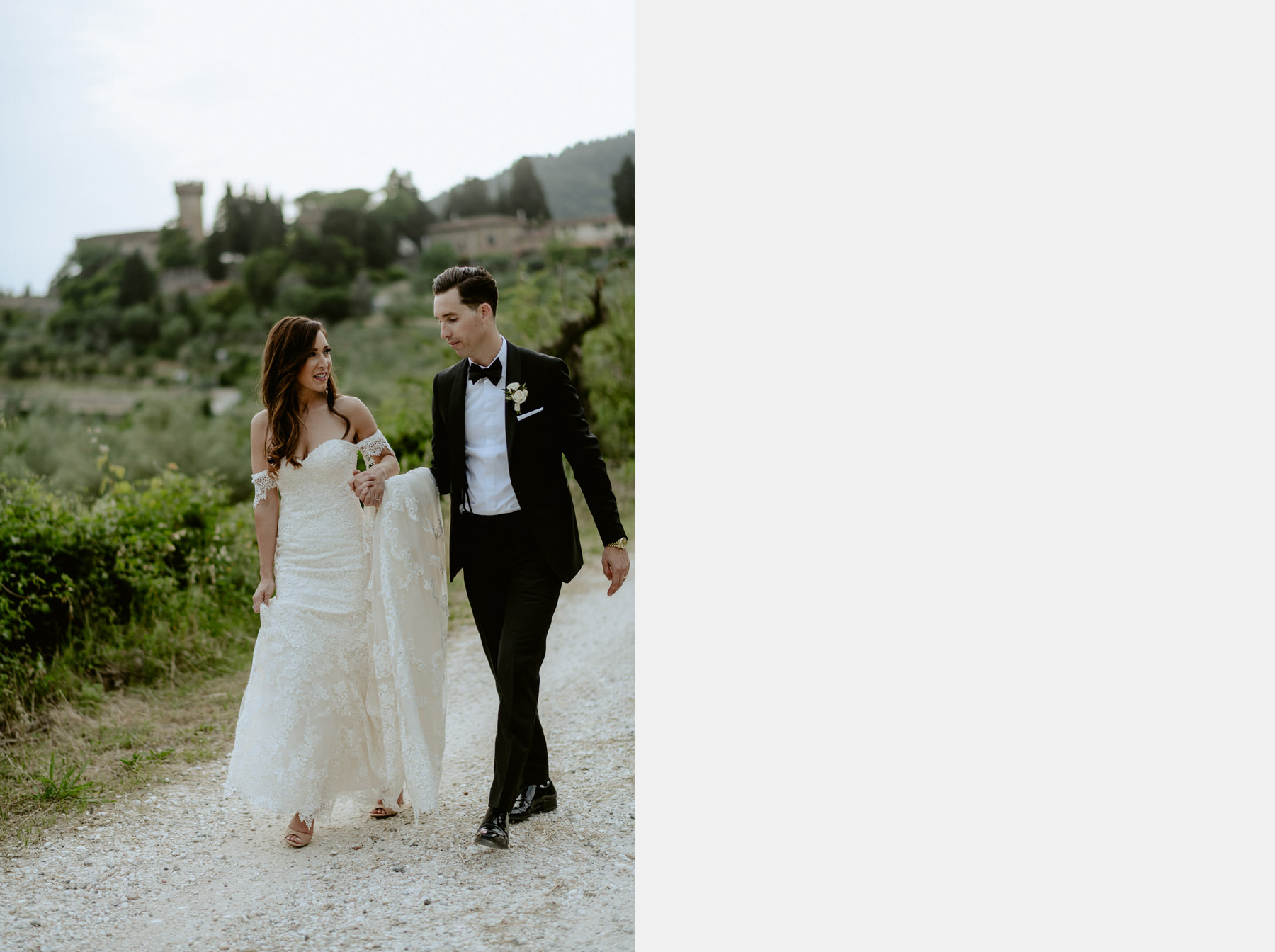Timeless wedding in Florence Tuscany vincigliata castle romantic