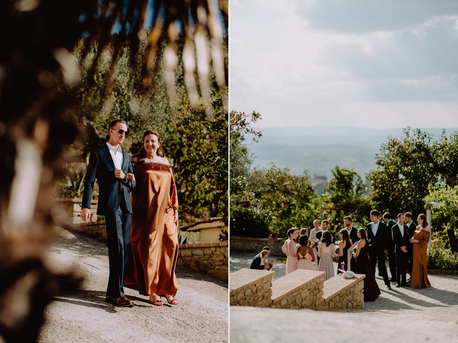 Unbria wedding photographer outdoor wedding ceremony
