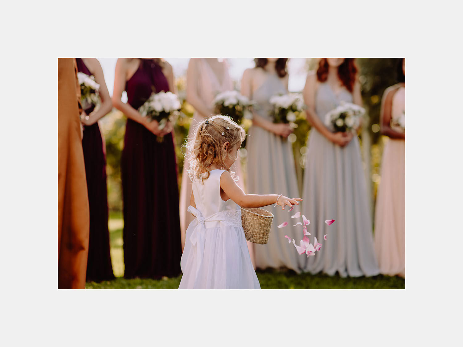 Unbria wedding photographer flower girl